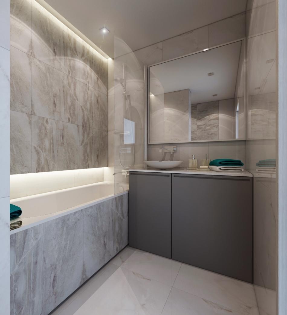 Дизайн-проект ванной комнаты (60 фото пояснения) 50