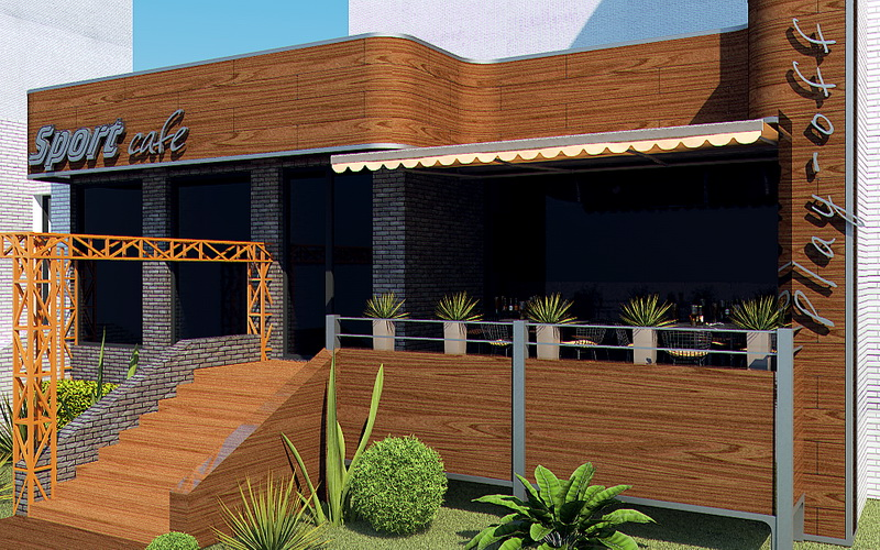 The frap bar cafe interior and exterior design proposal on behance