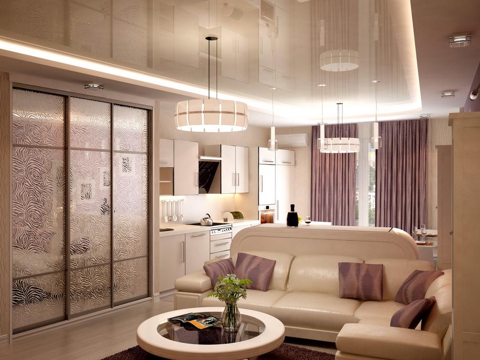 Дизайн спальни гостиной в классическом стиле 21