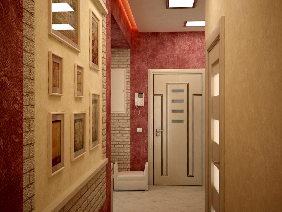 Дизайн коридора двухкомнатной квартире 170