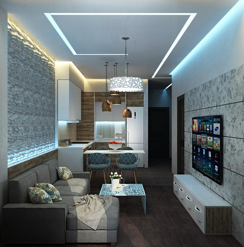Фото интерьера однокомнатной квартиры 30 кв.м