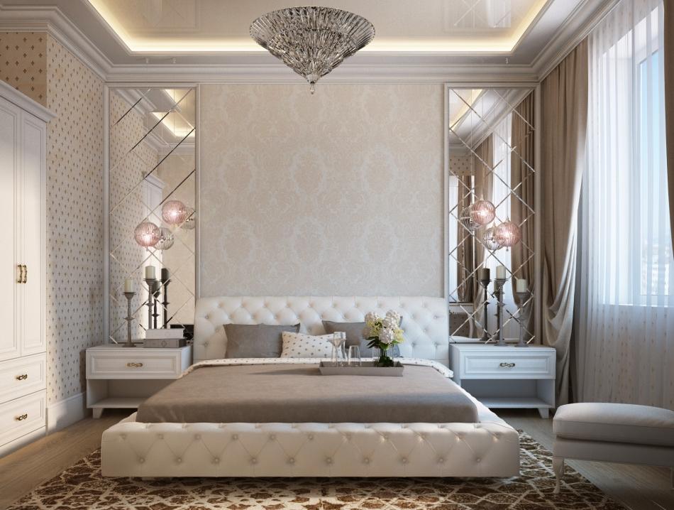 Спальня в стиле современная классика дизайн фото